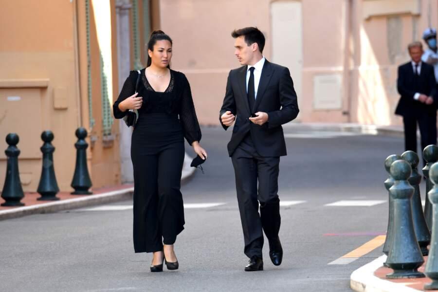 Louis Ducruet et son épouse Marie sont venus pour les funérailles.