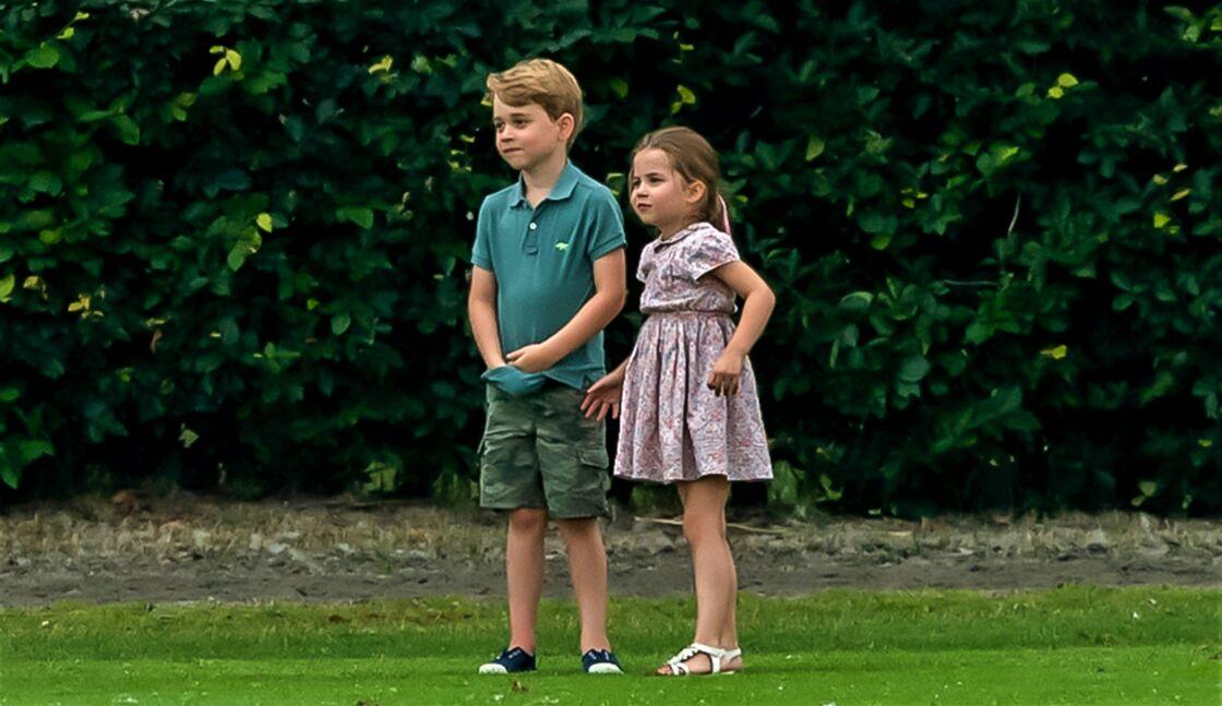 Le prince George et la princesse Charlotte, en juillet 2019.