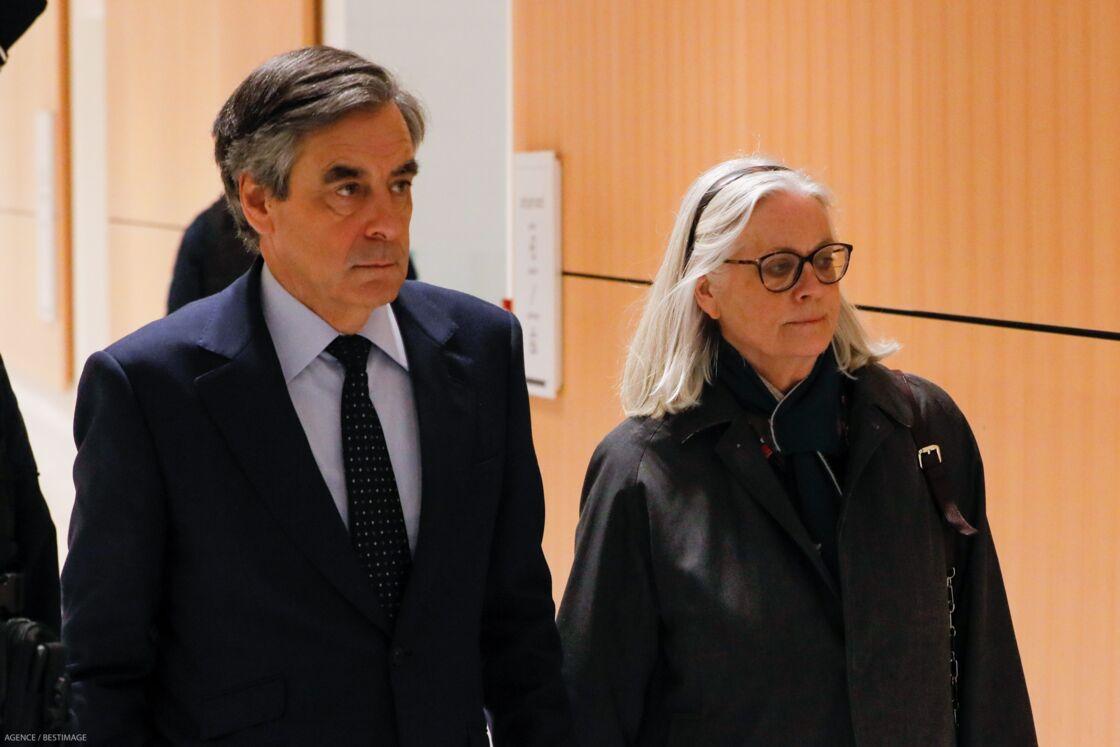 François et Penelope Fillon au tribunal correctionnel de Paris, le 11 mars 2020