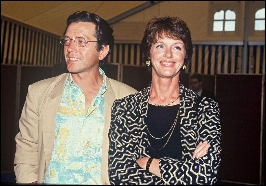 Bernard Giraudeau et Anny Duperey, à la fête du cinéma, le 24 juin 1991