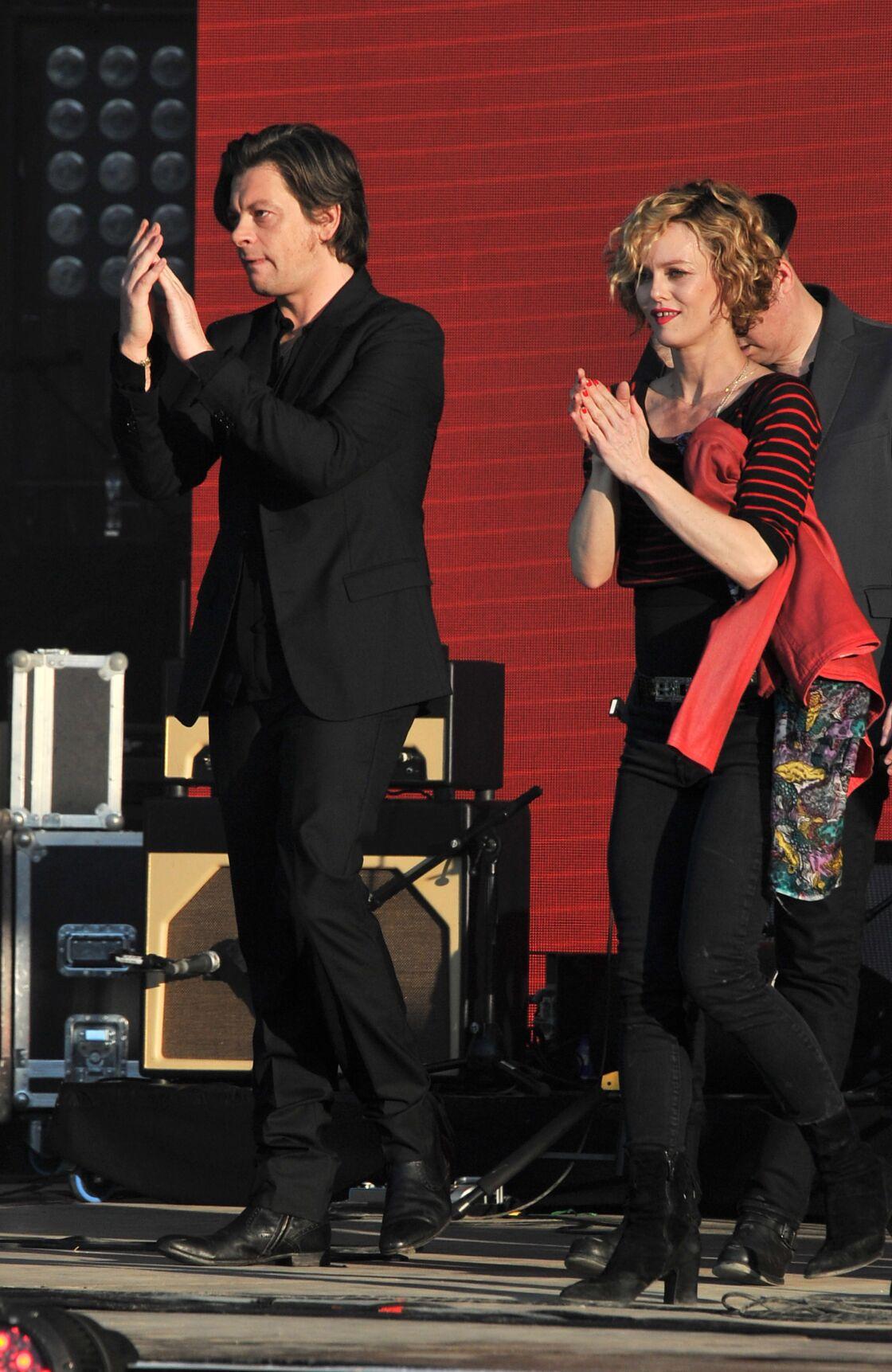Benjamin Biolay et Vanessa Paradis au festival de Nyon