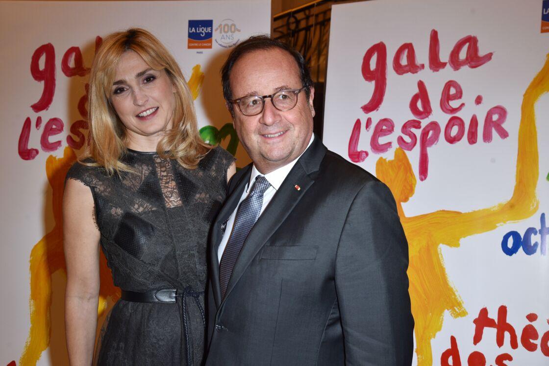 Julie Gayet et François Hollande au Gala de l'espoir, le 22 octobre 2019