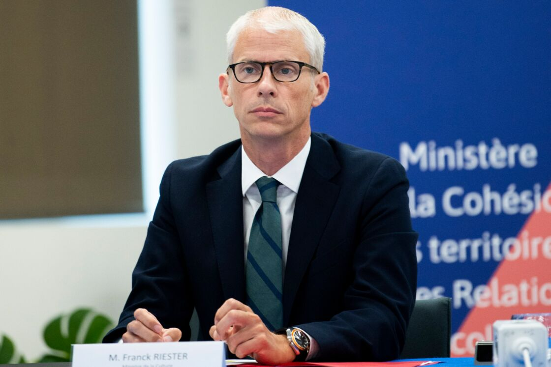 Le ministre de la Culture, Franck Riester, le 3 juin 2020