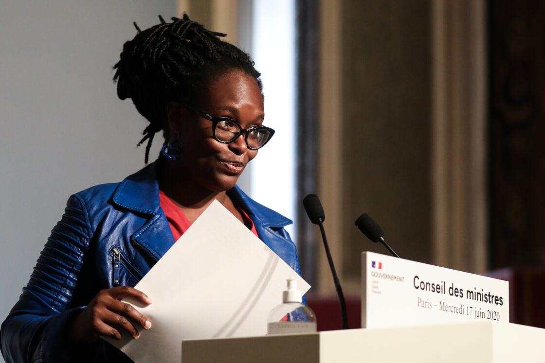 Sibeth Ndiaye lors du Conseil des ministres