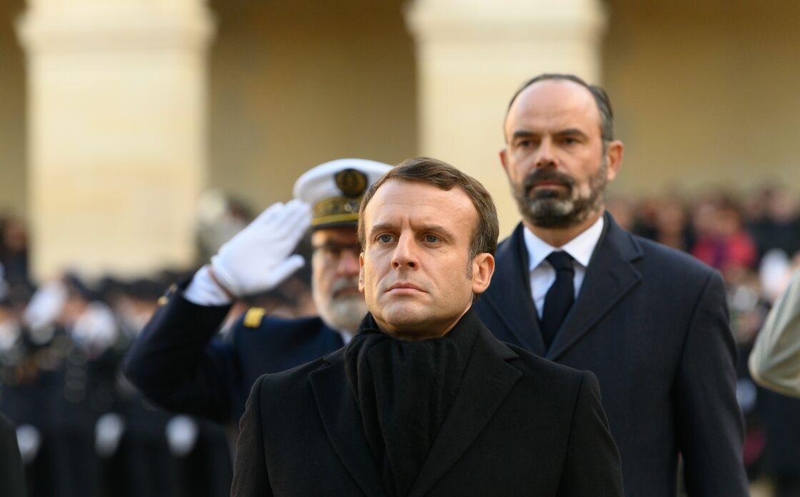 Edouard Philippe et Emmanuel Macron en décembre 2019