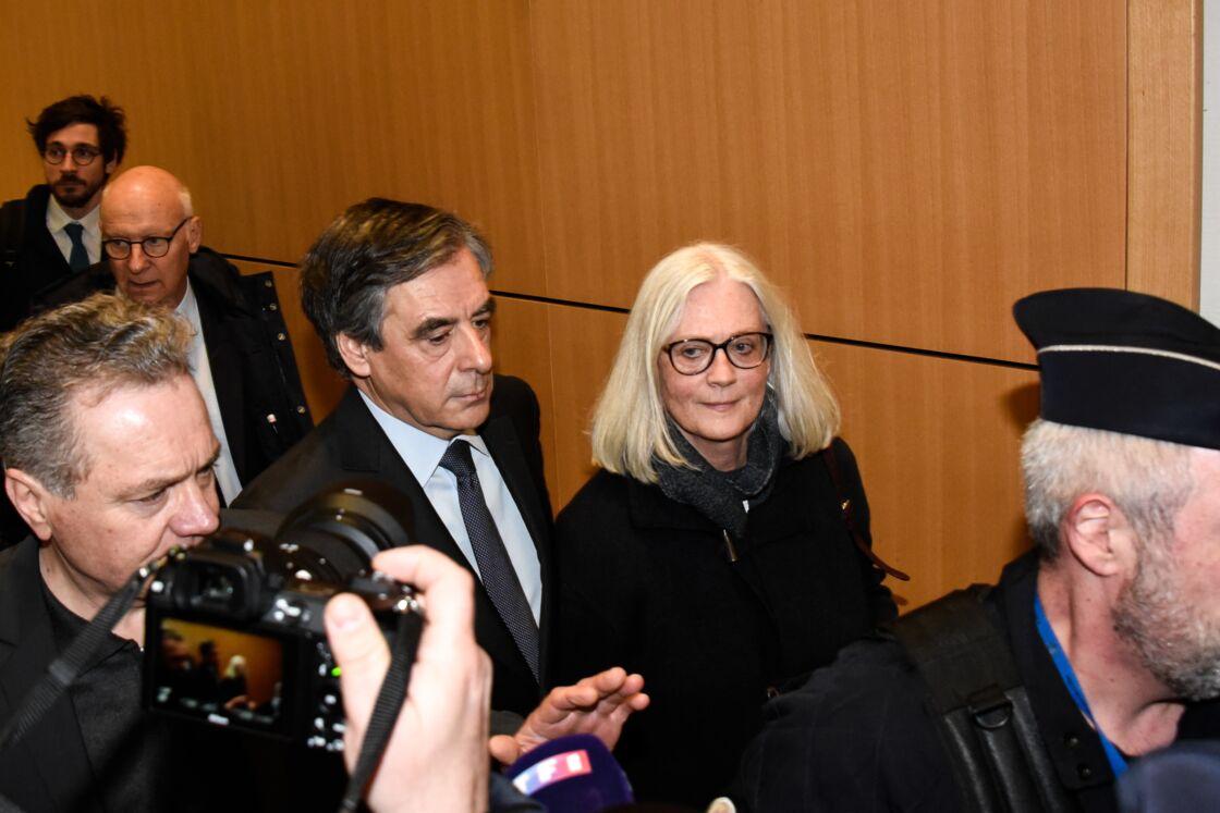 François et Penelope Fillon au tribunal correctionel de Paris, France, le 24 février 2020
