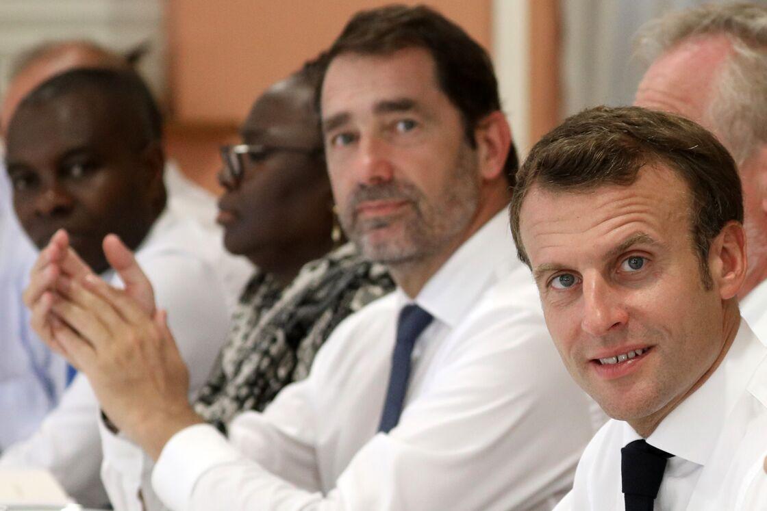 Christophe Castaner et Emmanuel Macron le 22 octobre 2019