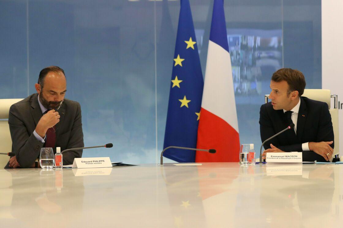 Édouard Philippe et Emmanuel Macron, le 13 mai 2020