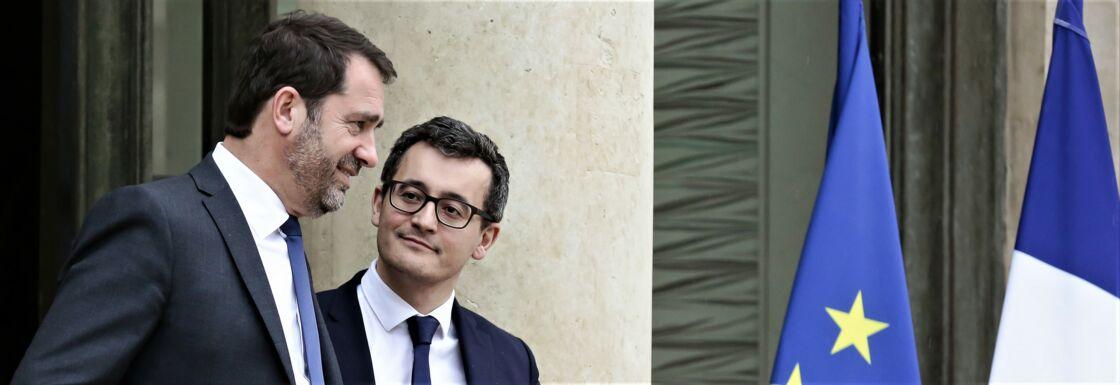 Christophe Castaner et Gérald Darmanin