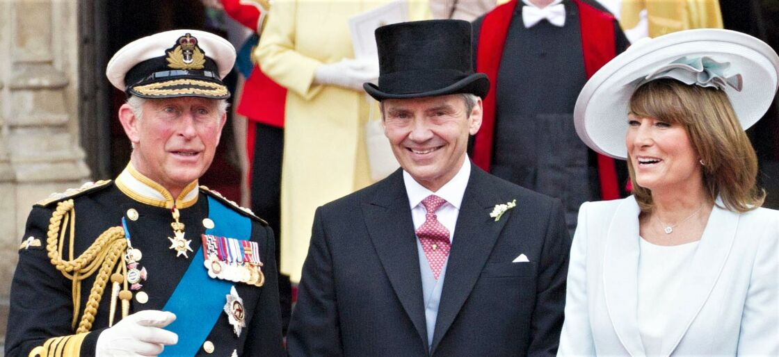 Le prince Charles, Michael Middleton et Carole Middleton.