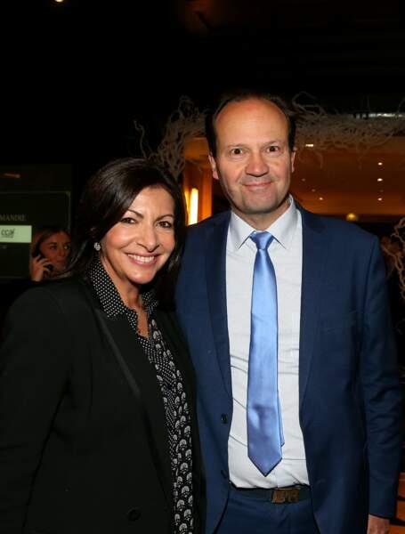 Anne Hidalgo et son mari Jean-Marc le 5 février 2019