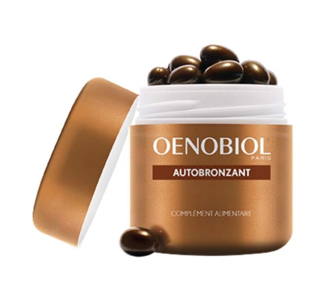 Complément alimentaire autobronzant, Oenobiol, 9,99 € la boite de 30