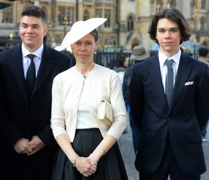 Sarah Armstrong-Jones (Sara Chatto) et ses fils Samuel et Arthur