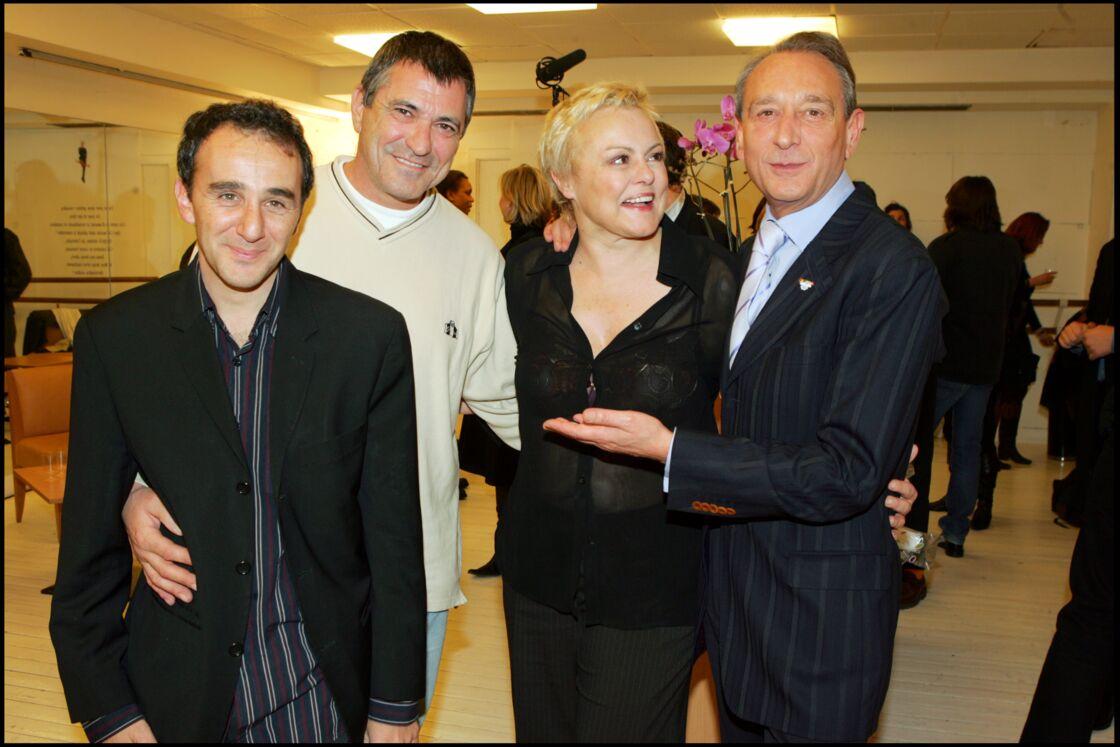 Elie Semoun, aux côtés de Jean-Marie Bigard, Muriel Robin et Bertrand Delanoë au Grand Rex, en 2005.