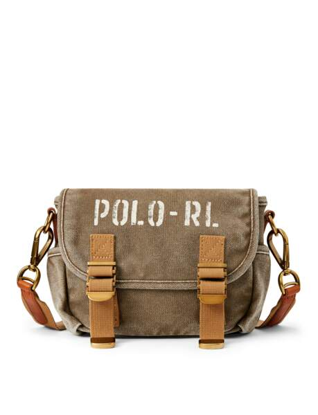 Sac coursier, 199€, Polo Ralph Lauren.