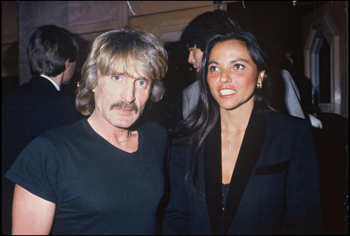 Le chanteur Christophe et son épouse Véronique Bevilacqua, en 1984.