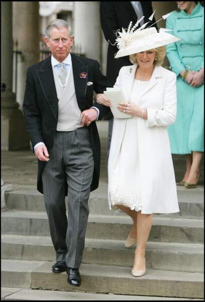 Le prince Charles et Camilla Parker Bowles se sont mariés le 9 avril 2005, à l'âge de 56 ans et 57 ans