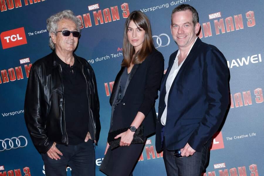 Garou aux côtés de Luc Plamondon et de sa compagne Stéphanie Fournier