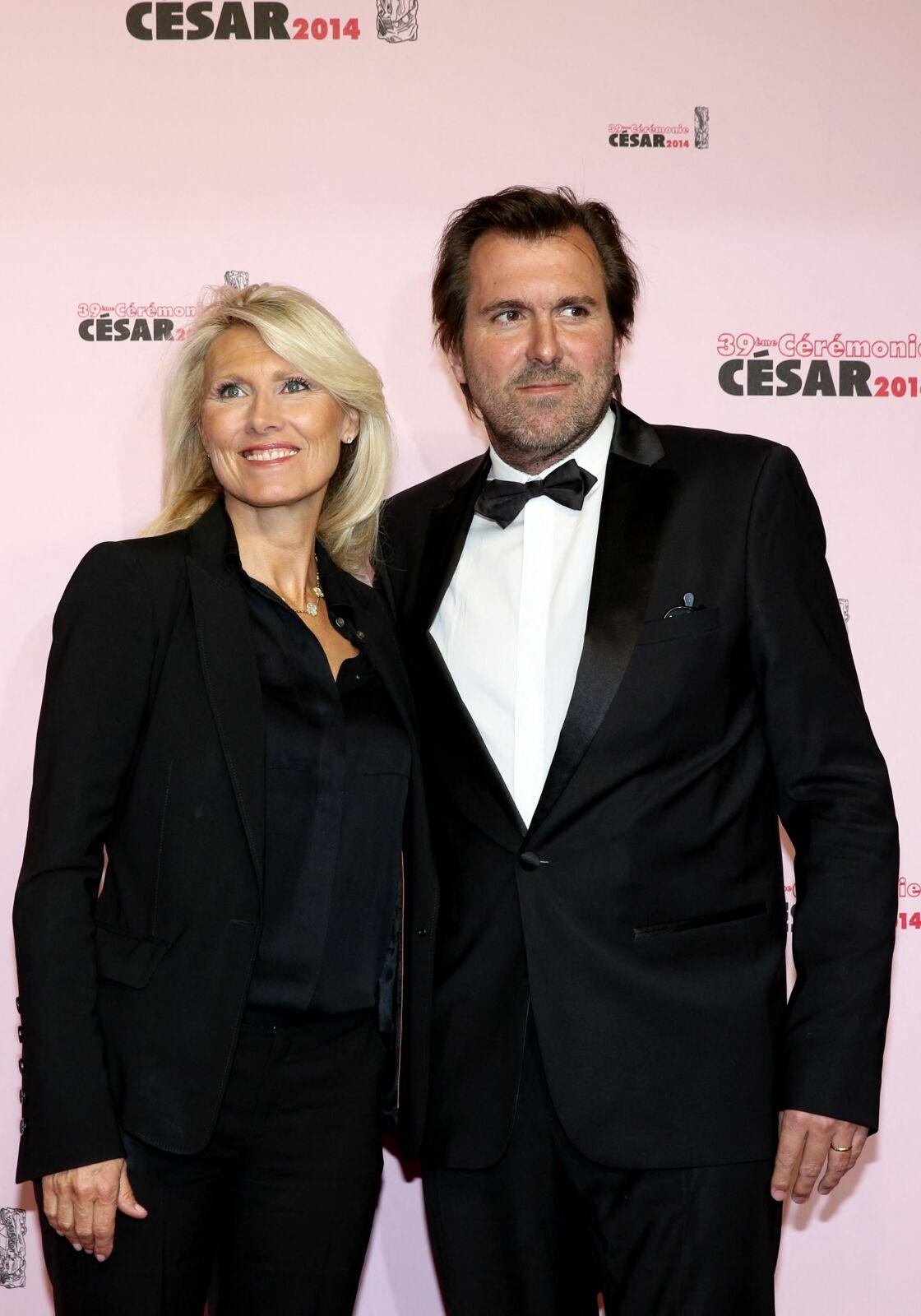 Marie Sara et son défunt mari le publicitaire Christophe Lambert, en 2014