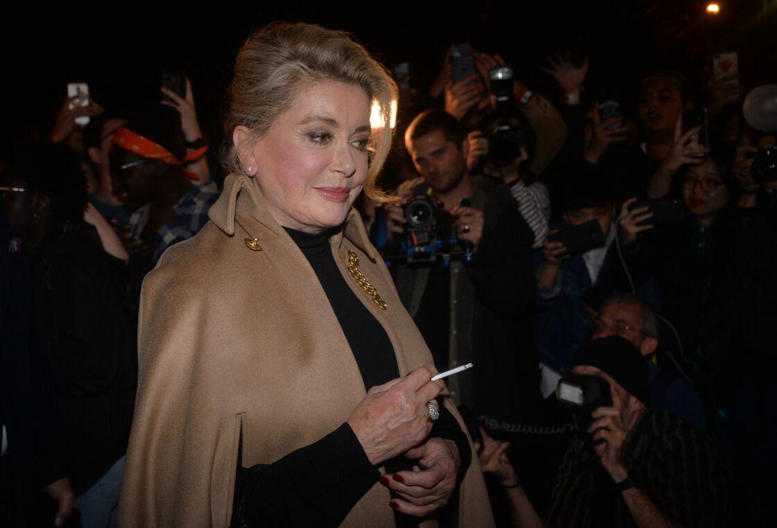 Catherine Deneuve au défilé Céline printemps-été 2020, à Paris le 27 septembre 2019.