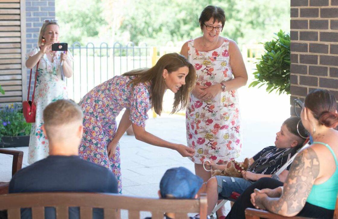 Kate Middleton a rencontré Sonny, 6 ans, un petit garçon souffrant d'une tumeur au cerveau.