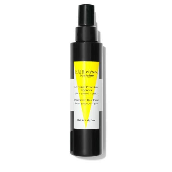 Marie-Ange Casta adore utiliser le Fluide Protecteur Hair Rituel by Sisley. Il protège ses cheveux des UV, du sel et du chlore, avant de les tresser.