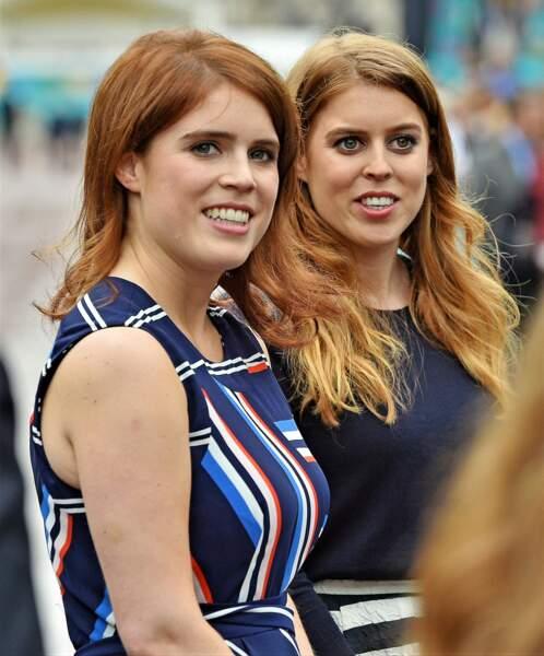 Les princesses Eugenie et Beatrice d'York.