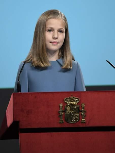 En octobre dernier, pour son treizième anniversaire, la princesse Leonor prononçait son premier discours officiel