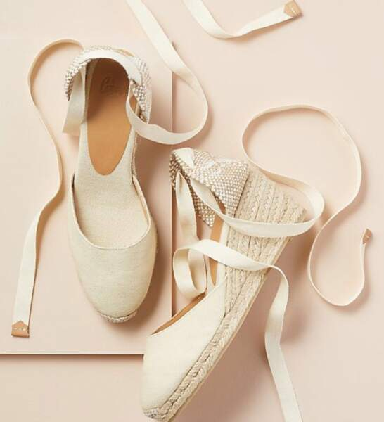 Sandales plateforme style espadrilles, Anthropologie, 98 €, https://www.anthropologie.com/