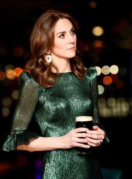 Kate Middleton et son carré court et auburn le 3 mars 2020, en Irlande.