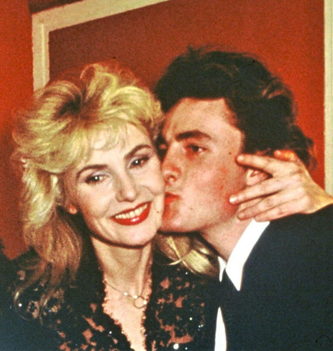 Romain Vidal au côté de sa mère Michèle Torr