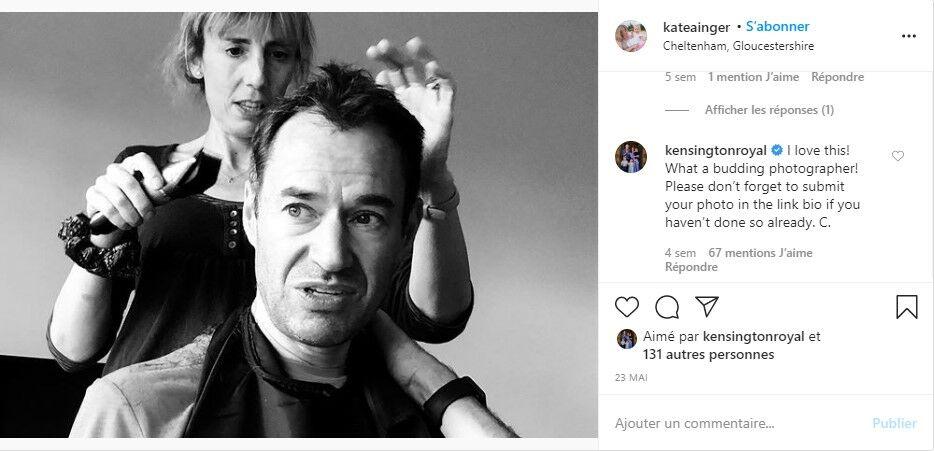 Kate Middleton commente une photo sur Instagram