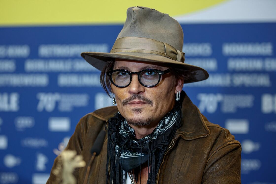 Johnny Depp pour la présentation du film