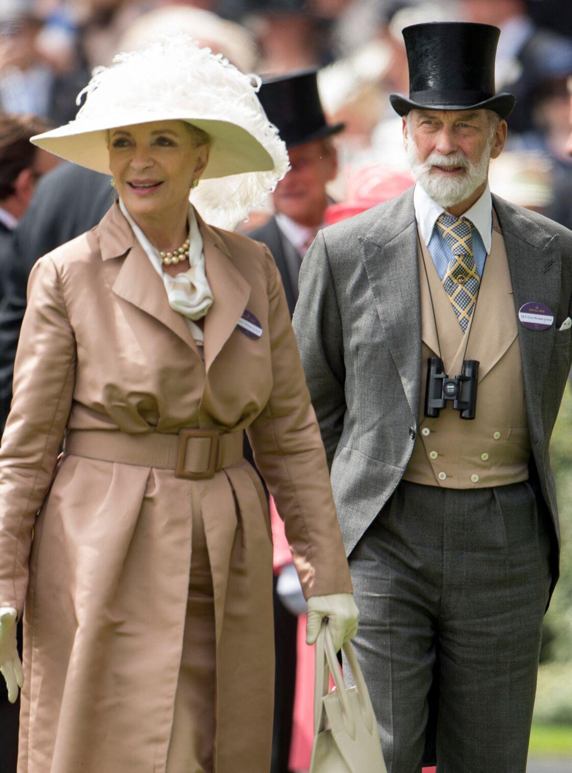 Le prince Michael de Kent, fils de George Kent, et son épouse Marie-Christine von Reibnitz, princesse Michael de Kent lors du quatrième jour des courses hippiques