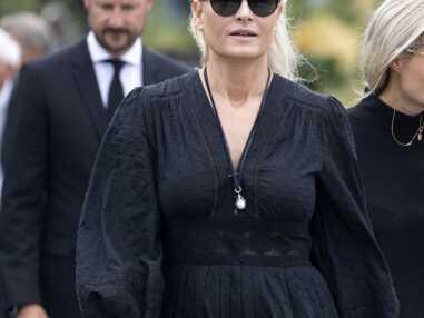 PHOTOS - Mette-Marit de Norvège aux funérailles de son beau-père