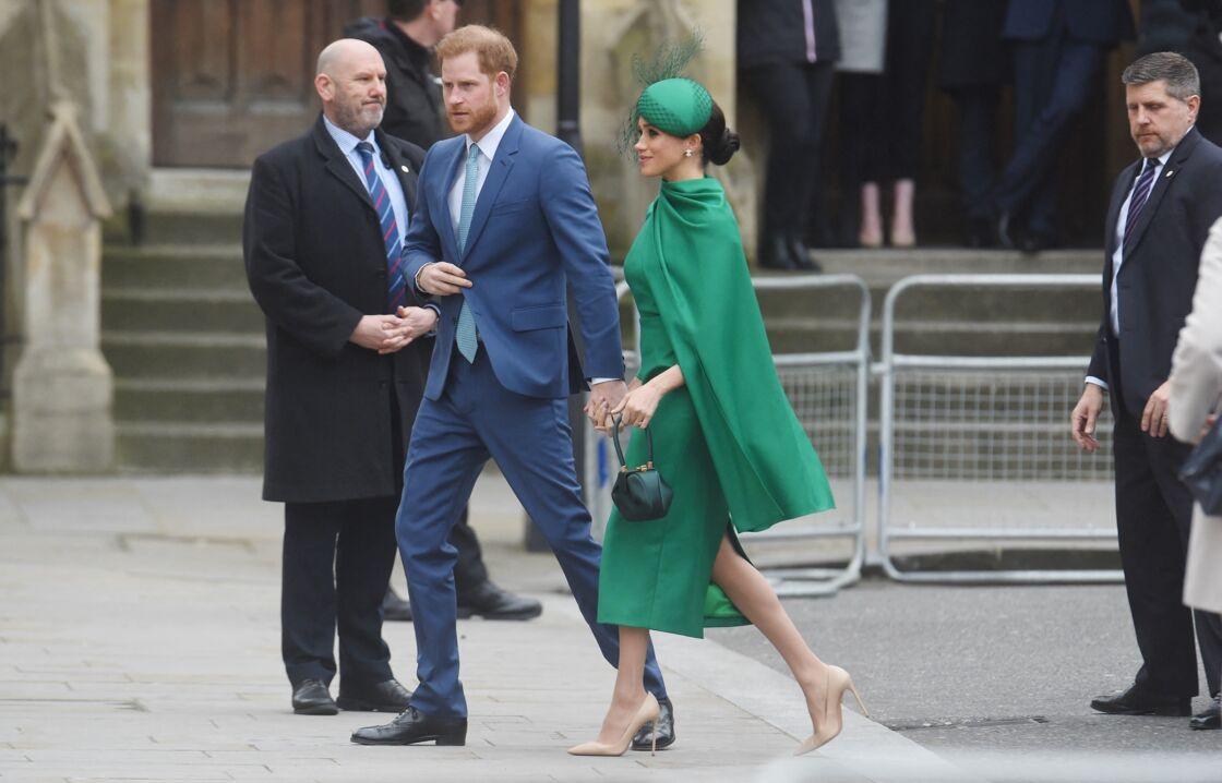 Le prince Harry, duc de Sussex, et Meghan Markle, duchesse de Sussex - La famille royale d'Angleterre à son arrivée à la cérémonie du Commonwealth en l'abbaye de Westminster à Londres. Le 9 mars 2020