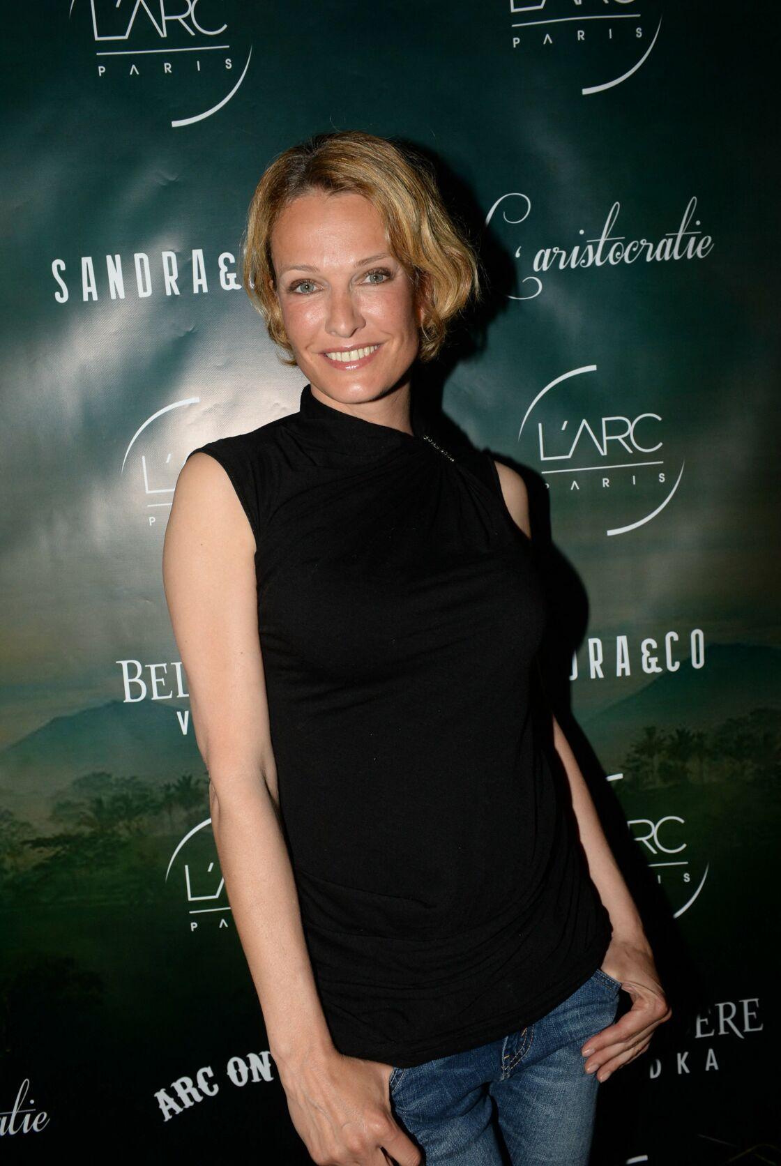 Karen Mulder à l'anniversaire de Sandra Zeitoun de Matteis à l'Arc à Paris, le 24 avril 2015.