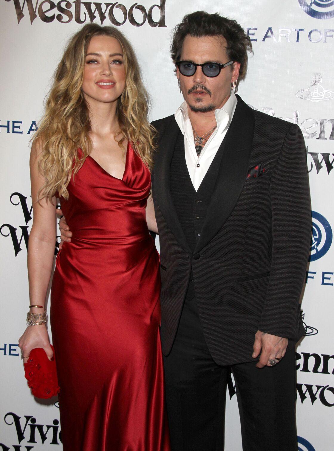Amber Heard et Johnny Depp à Culver City en Californie le 9 janvier 2016.