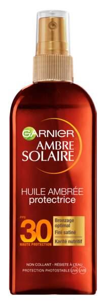 L'huile ambrée protectrice Garnier SPF 30