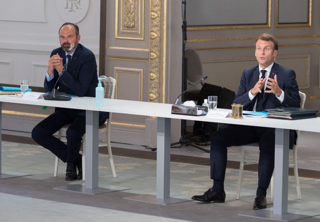 Édouard Philippe et Emmanuel Macron, le 24 juin 2020