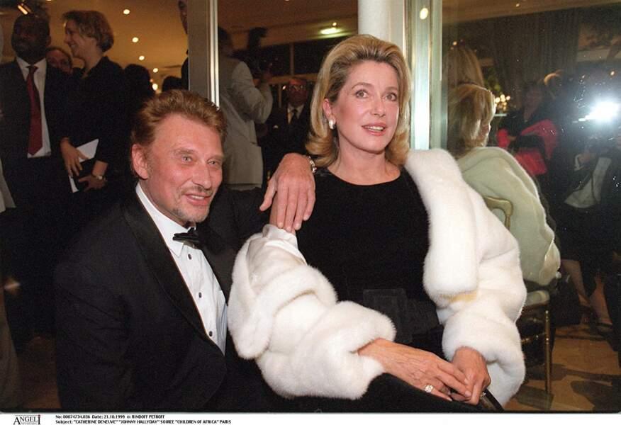 Johnny Hallyday et Catherine Deneuve