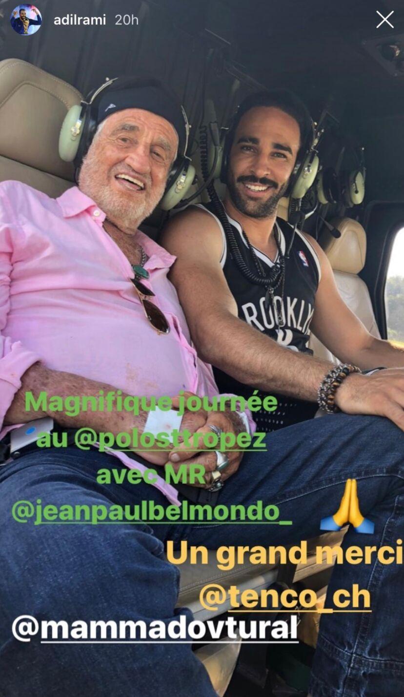 Jean-Paul Belmondo et Adil Rami le 2 juillet 2020