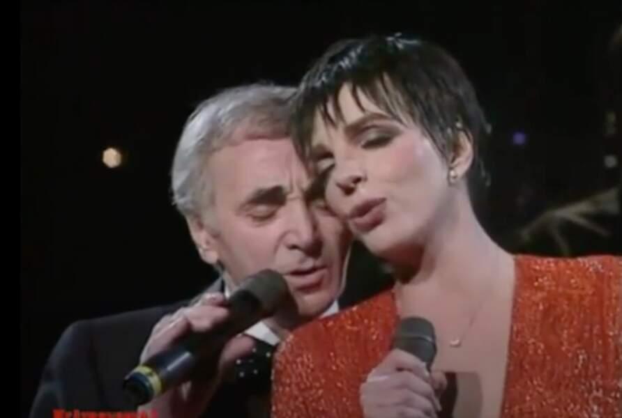 Charles Aznavour et Liza Minnelli