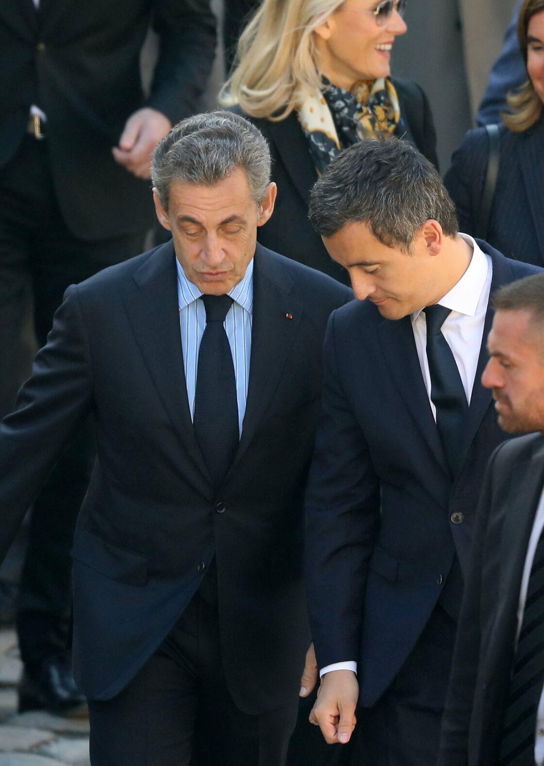 Nicolas Sarkozy et Gérald Darmanin, en 2018