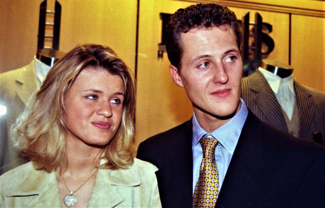 Corinna et Michael Schumacher en 1997.