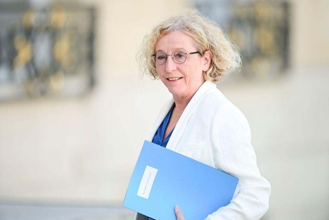 Muriel Penicaud - Ministre du Travail - Réunion avec les partenaires sociaux au palais de l'Élysée à Paris le 24 juin 2020.