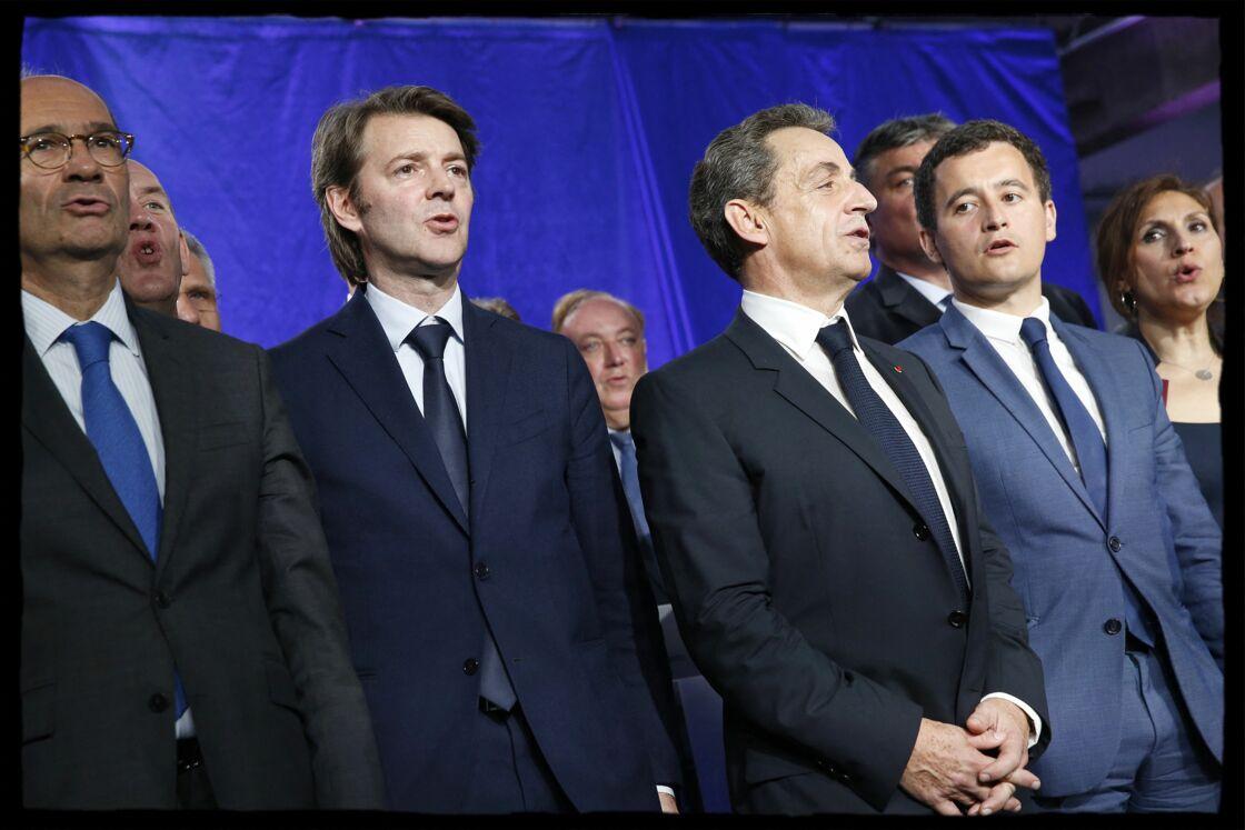 Nicolas Sarkozy et Gérald Darmanin, en 2016