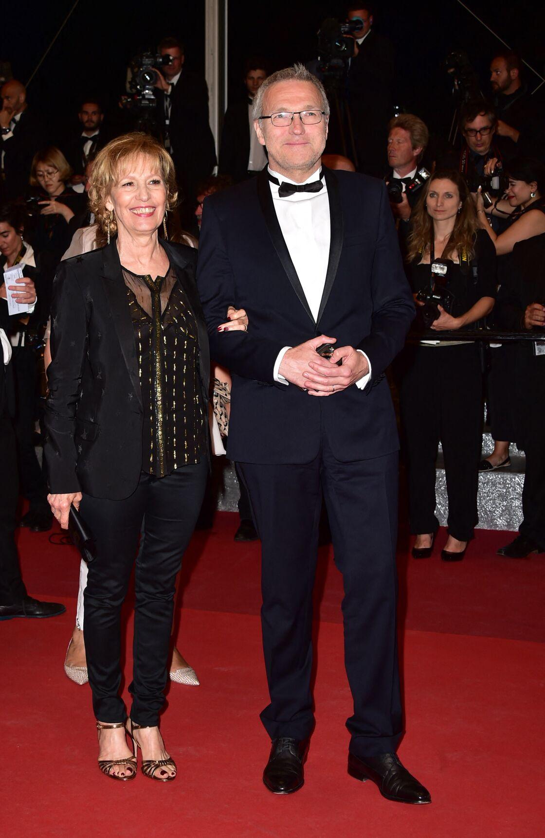 Laurent Ruquier, Catherine Barma - Montée des marches du film
