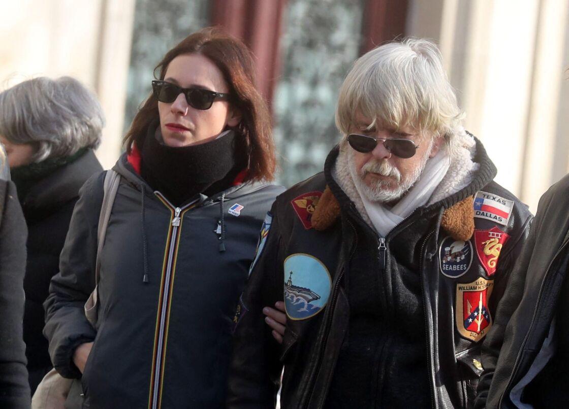 Lolita Séchan et Renaud aux obsèques de Thierry Séchan, le 16 janvier 2019