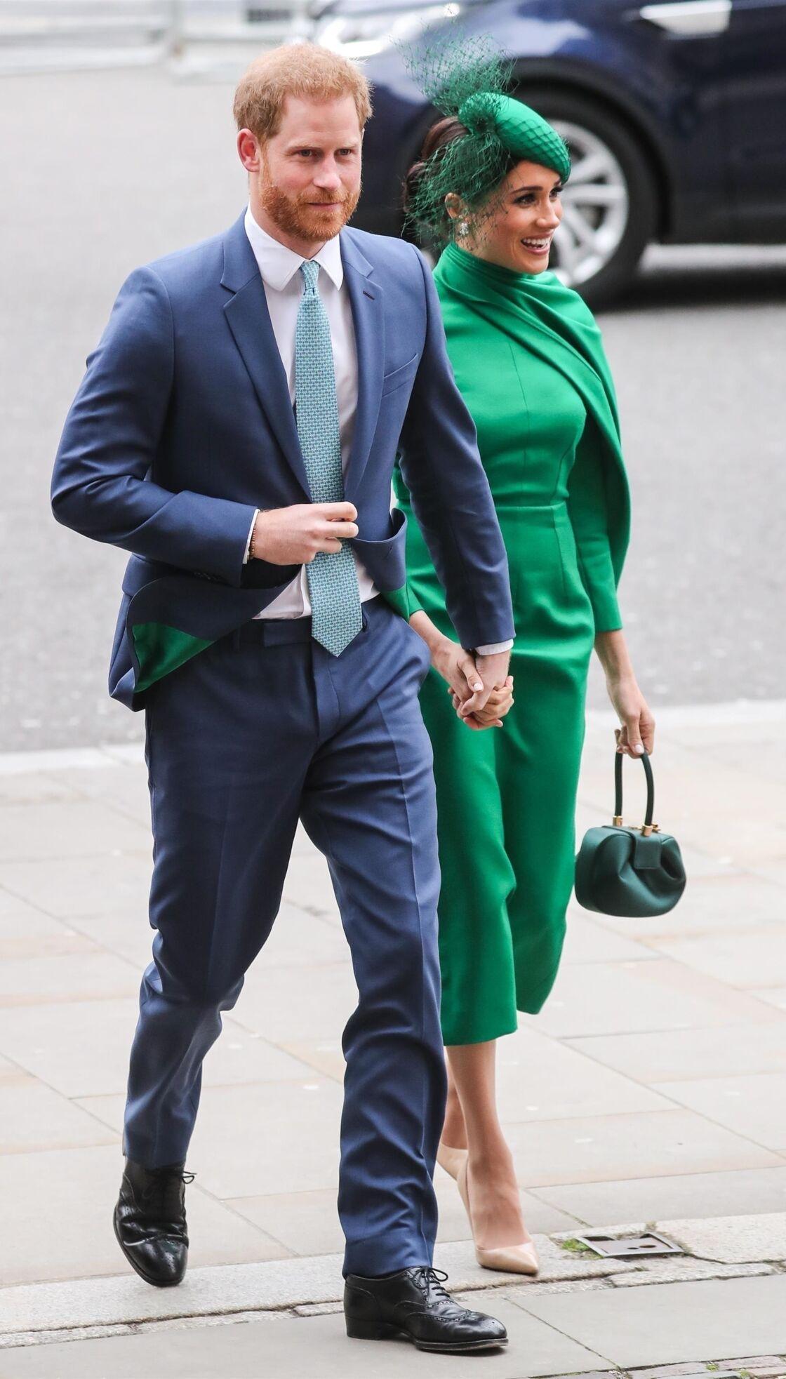 Le prince Harry et Meghan Markle à la cérémonie du Commonwealth, le 9 mars 2020.